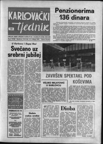 Karlovački tjednik: 1970 • 19