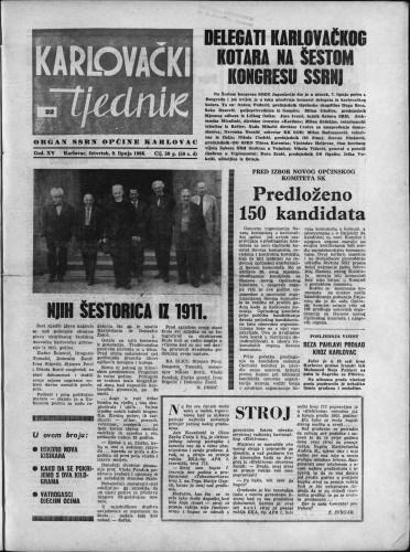 Karlovački tjednik: 1966 • 22