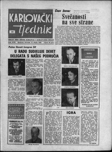 Karlovački tjednik: 1969 • 10