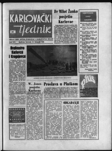 Karlovački tjednik: 1968 • 41