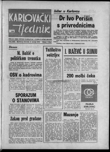Karlovački tjednik: 1972 • 14