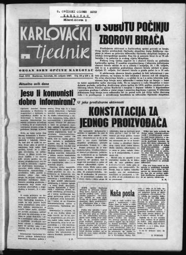 Karlovački tjednik: 1967 • 7