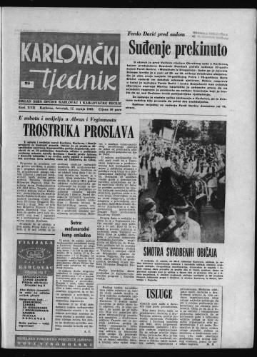 Karlovački tjednik: 1969 • 28