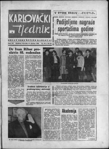 Karlovački tjednik: 1966 • 3