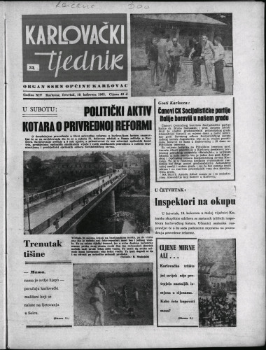 Karlovački tjednik: 1965 • 33