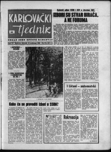 Karlovački tjednik: 1966 • 44