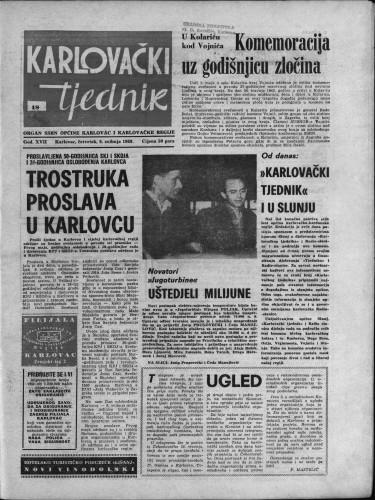 Karlovački tjednik: 1969 • 18