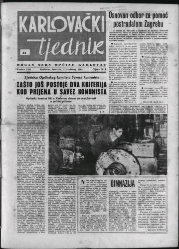 Karlovački tjednik: 1964 • 44