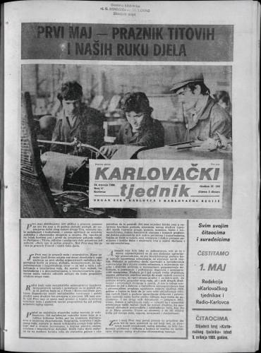 Karlovački tjednik: 1980 • 17