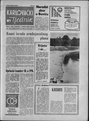 Karlovački tjednik: 1975 • 34