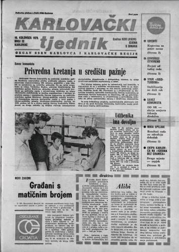 Karlovački tjednik: 1979 • 33