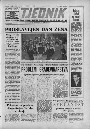 Karlovački tjednik: 1959 • 11