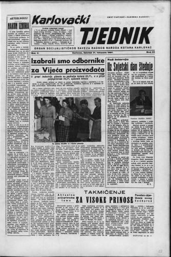 Karlovački tjednik: 1957 • 44