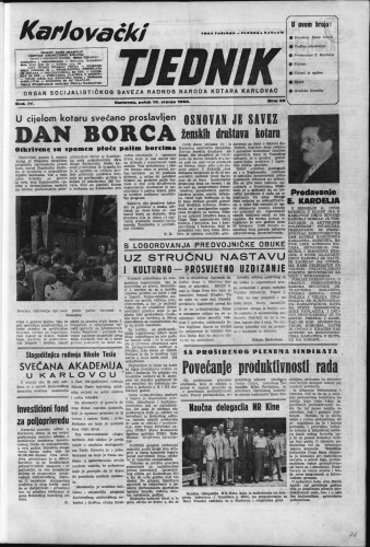 Karlovački tjednik: 1956 • 28