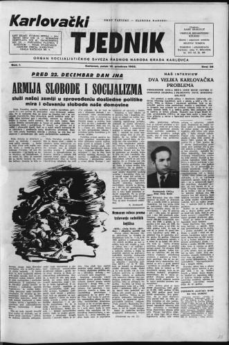 Karlovački tjednik: 1953 • 25
