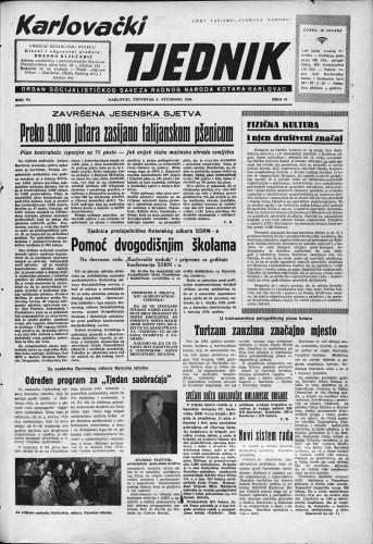 Karlovački tjednik: 1958 • 45