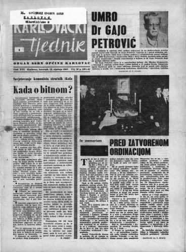 Karlovački tjednik: 1967 • 1
