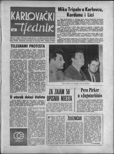 Karlovački tjednik: 1971 • 15