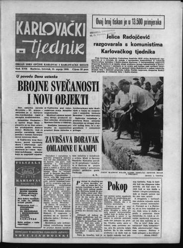 Karlovački tjednik: 1969 • 30