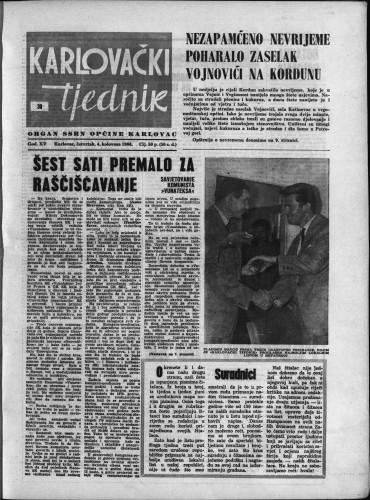 Karlovački tjednik: 1966 • 30