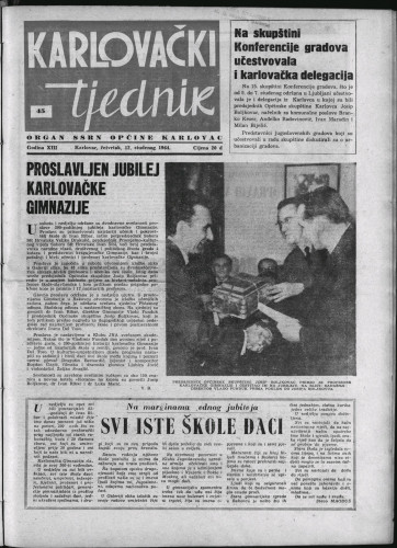 Karlovački tjednik: 1964 • 45