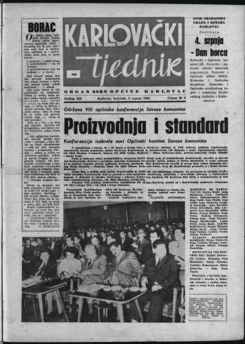 Karlovački tjednik: 1964 • 26