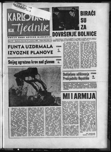 Karlovački tjednik: 1967 • 50