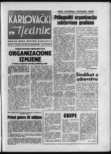 Karlovački tjednik: 1966 • 40