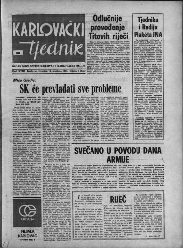 Karlovački tjednik: 1971 • 50