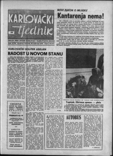 Karlovački tjednik: 1970 • 33