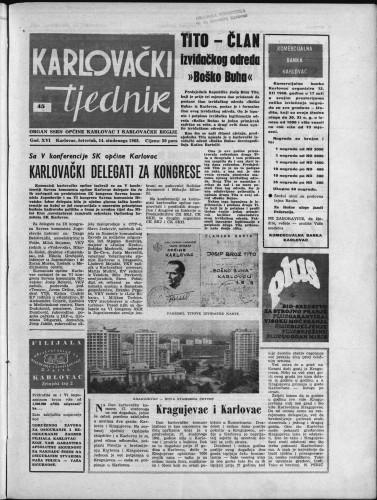 Karlovački tjednik: 1968 • 45