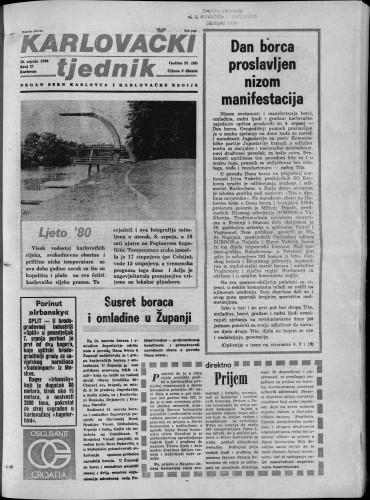 Karlovački tjednik: 1980 • 27