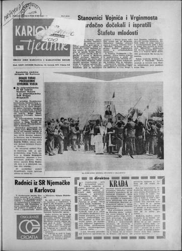Karlovački tjednik: 1977 • 15