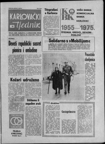 Karlovački tjednik: 1975 • 22