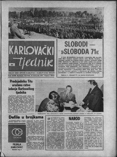 Karlovački tjednik: 1971 • 41