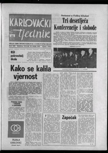 Karlovački tjednik: 1972 • 11