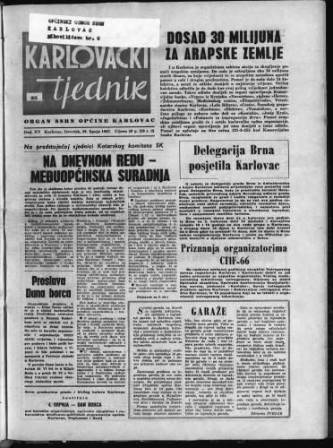 Karlovački tjednik: 1967 • 25