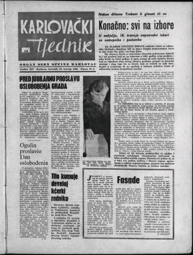 Karlovački tjednik: 1965 • 15