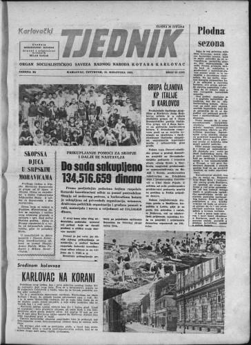 Karlovački tjednik: 1963 • 31