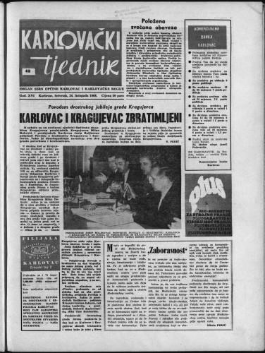 Karlovački tjednik: 1968 • 42