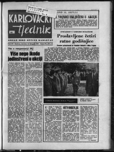 Karlovački tjednik: 1967 • 41