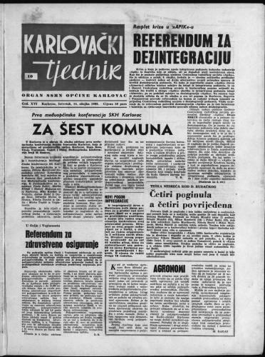 Karlovački tjednik: 1968 • 10