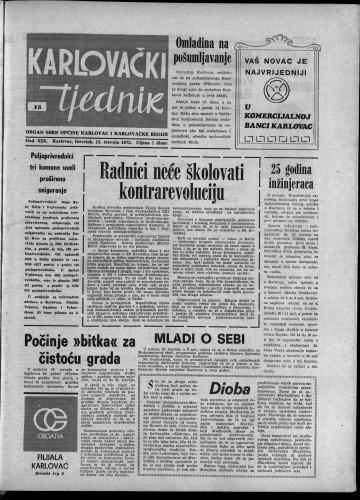 Karlovački tjednik: 1972 • 15