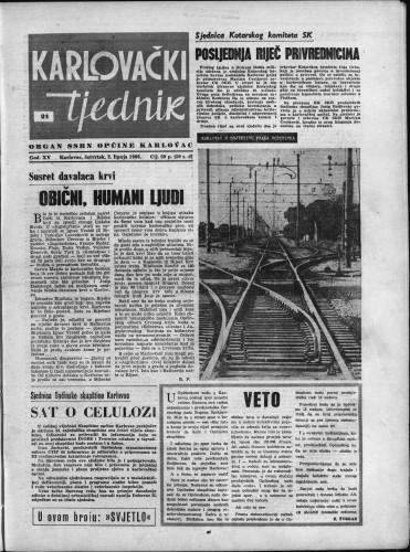 Karlovački tjednik: 1966 • 21