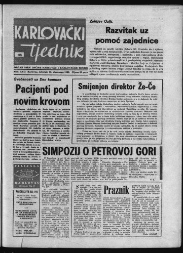 Karlovački tjednik: 1969 • 45
