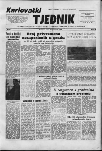 Karlovački tjednik: 1953 • 17