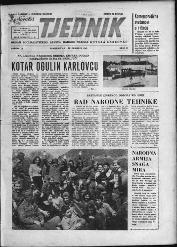 Karlovački tjednik: 1961 • 50