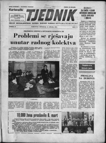 Karlovački tjednik: 1962 • 10