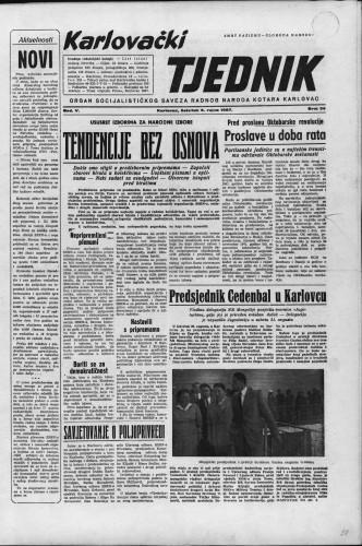 Karlovački tjednik: 1957 • 36