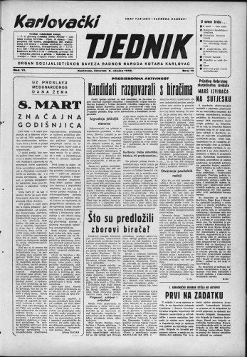 Karlovački tjednik: 1958 • 10